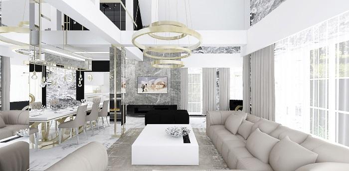 luksusowe wnętrza aranżacne domu