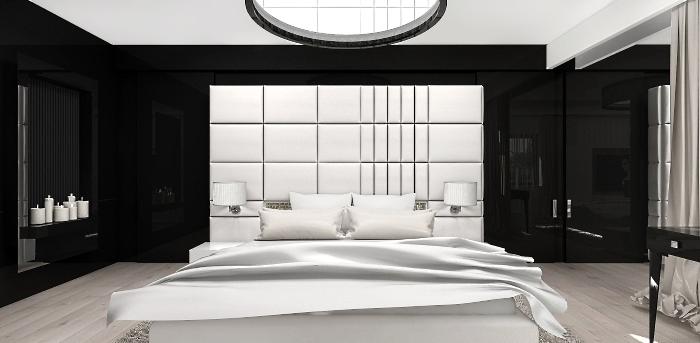 nowoczesna aranżacja sypialni wnętrze