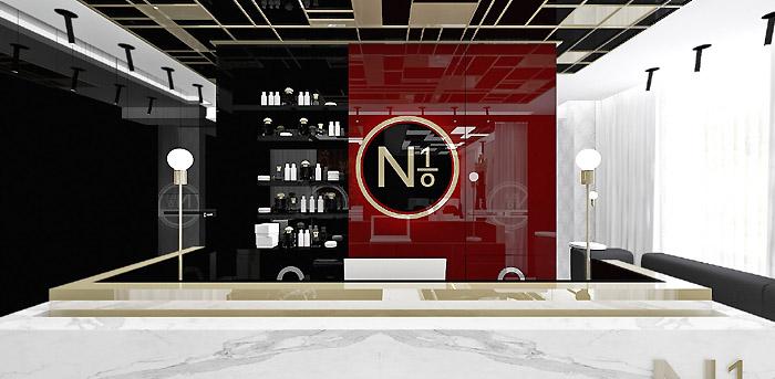projekt wnetrz recepcja salon kosmetyczny